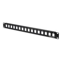 Digitus Modular Patch Panel, unshielded, 16-port blank, 1U, rack mount, black RAL 9005 Patchpaneel - Zwart