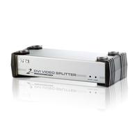 ATEN 2-poorts DVI/audiosplitser Videosplitter - Zwart, zilver