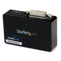 StarTech.com USB 3.0 naar HDMI en DVI 2x Monitor Externe Videokaart Adapter - Zwart