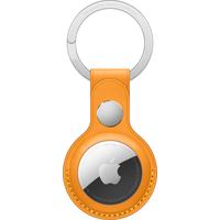 Apple AirTag Leather Key Ring - California Poppy - Jaune
