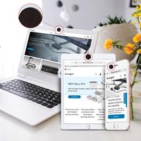 Kensington Nanobloc Universal Webcam Cover voor Camera-Enabled Devices - Zwart