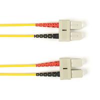 Black Box Câble de raccordement multimode coloré - LSZH Duplex Câble de fibre optique - Jaune