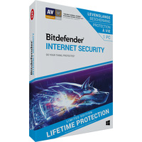 Bitdefender Internet Security (Lifetime/1 Apparaat) Databeveiligingsoftware