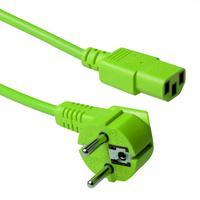 ACT Schuko - C13, 0.6m Electriciteitssnoer - Groen