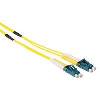ACT 20m Singlemode 9/125 OS2 duplex ruggedized fiber kabelmet LC connectoren Fiber optic kabel - Groen,Geel