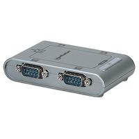 Manhattan USB 2.0 to Four Serial Port Converter, Serial/RS232, MosChip MCS7840, Automatic IRQ and I/O address .....