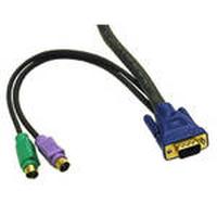 C2G 2m KVM Cable HD15 VGA M/M Câbles KVM - Noir