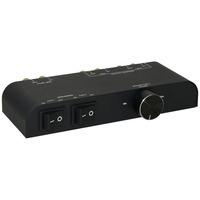 Microconnect 60 W, 8x Banana Connector, Black Commutateur audio - Noir