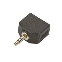 Black Box 1 x 3.5 mm M - 2 x 3.5 mm F - Zwart