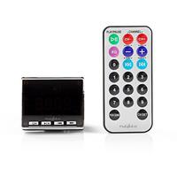 Nedis Émetteur FM de Voiture, Entrée de 3,5 mm, Emplacement pour carte MicroSD Transmetteur FM - Noir