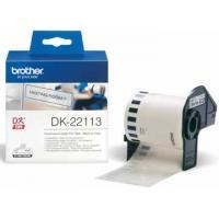Brother Etiketten/labels op rol voor labelprinters QL transparante tape van 62 mm x 15,24 m, plastic Etiket
