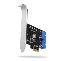 Axagon PCEU-034VL PCIe Adapter 4x int. USB3.0 19pin UASP VIA + LP Adaptateur Interface