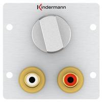 Kindermann 7444000518 Dop aansluitdoos - Aluminium