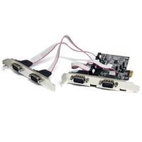 StarTech.com Carte PCI Express avec 4 Ports DB-9 RS232 - Adaptateur PCIe Série - UART 16550 Adaptateur .....