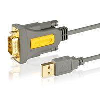 Axagon ADS-1PQ USB - serial HQ adapter, FTDI chip, 1.5 m Seriële kabel - Grijs,Geel
