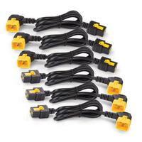 APC Power Cord Kit (6 ea), Locking, C19 to C20 (90 Degree), 1.8m Cordon d'alimentation - Noir