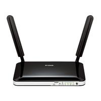 D-Link 4G, UMTS/HSDPA/HSU, WiFi 802.11n, 4 x RJ-45, Fast Ethernet, 1 x RJ-45 WAN, SIM Card Slot - Noir, Blanc