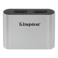 Kingston Technology Workflow microSD Reader Kaartlezer - Zwart, Zilver