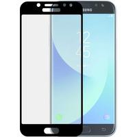 """Azuri Screen Protector Tempered Glass voor Samsung Galaxy J7 2017, 5.5"""", Zwart/Transparant Schermbeschermer"""