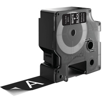 DYMO D1 - Standard Étiquettes - Blanc sur noir - 24mm x 7m Ruban d'étiquettes