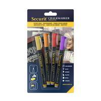 Securit Chalkmarker, Yellow/Orange/Red/Purple
