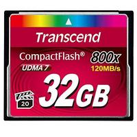 Transcend CompactFlash 800 Flashgeheugen - Zwart