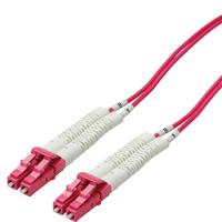 Value 50/125µm, LSOH, LC/LC, OM4, 1.0 m Fiber optic kabel - Violet