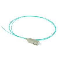 ACT SC 50/125µm OM3 pigtail Fiber optic kabel - Aqua-kleur