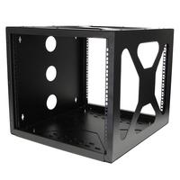 StarTech.com 8U Serverkast Rack met zijwaartse wandmontage Stellingen/racks - Zwart