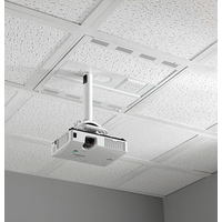 Chief 2' x 2' Plenum Rated Storage Box with Column Drop Plafond & muur steun - Roestvrijstaal,Wit