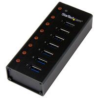 StarTech.com 7-poorts USB 3.0 hub op een desktop of op de wand monteerbare metalen behuizing Interface hub .....
