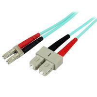StarTech.com Câble patch à fibre optique LSZH duplex 50/125 multimode turquoise 10 Gb 2 m LC - SC Câble .....