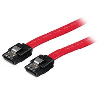 StarTech.com 15 cm Vergrendelbare SATA-kabel ATA kabel - Rood