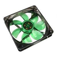 Cooltek Silent Fan 120 Green LED - 1,200 rpm Cooling - Zwart, Groen