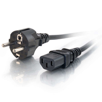 C2G européen AWG 16 (IEC320C13 à CEE7/7) de 2M Cordon d'alimentation - Noir