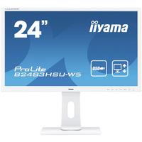 "Iiyama ProLite B2483HSU-W5, 24"", TN LED, 1920x1080, 16:9, VGA, HDMI, DP, USB, HDCP, 3.5mm, RMS 2x 1W, ....."