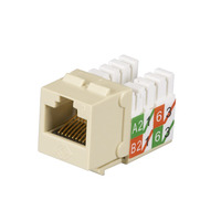 Black Box GigaTrue2 CAT6 Jacks, Universal Wiring, Component Level, 25-Pack, Ivory - Ivoor,Wit