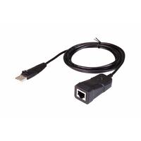 ATEN USB naar RJ-45 (RS-232) consoleadapter Interfaceadapter - Zwart