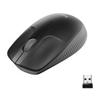 Logitech M190 Full-Size Wireless Mouse Computermuis - Antraciet,Zwart