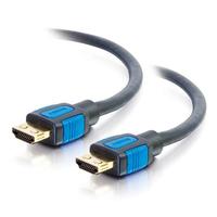 C2G 0,5M HIGH SPEED HDMI-KABEL MET GRIPPING CONNECTORS - Zwart, Blauw