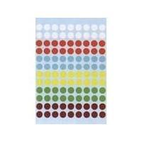 HERMA Multi-purpose labels ø 8 mm colours assorted 540 pcs. Etiket