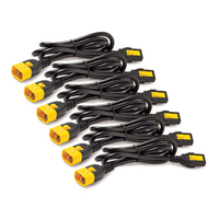 APC Power Cord Kit (6 ea), Locking, C13 to C14, 1.2m, North America Cordon d'alimentation - Noir,Jaune