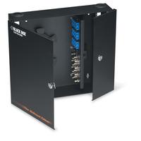 Black Box Wallmount Fiber Enclosure - Locking, 4-Slot - Noir