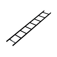 Middle Atlantic Products 6 Ft. Cable Ladder, 12 Inches Wide Cable-trunking systemen - Zwart