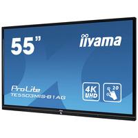 "Iiyama ProLite TE5503MIS-B1AG, 55"", 3840x2160, 16:9, 8 ms, infrarood, VGA, HDMI, RS-232C, RJ-45, S/PDIF, HDCP, ....."