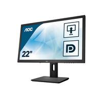 AOC Essential-line 21.5 inch 1920x1080@60Hz 2 ms TN HDMI 1.4 x 1, VGA, DVI, DisplayPort 1.1 x 1 USB 3.0 x 2 Monitor .....