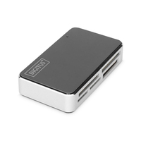 Digitus Card Reader USB 2.0, All-in-One supports T-Flash, incl. USB A/M to mini 5P cable Kaartlezer - Zwart, .....