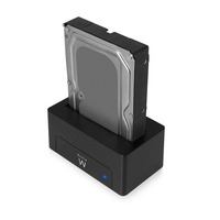 Ewent USB 3.1 Gen1 (USB 3.0) Docking Station for 2.5 and 3.5 inch SATA HDD/SSD HDD/SSD docking stations - Zwart