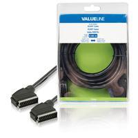 Valueline SCART, 3m - Noir