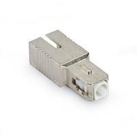 Black Box Fiber Optic Inline Attenuator Single Mode SC/APC 2 DB Glasvezel-adapters - Zilver